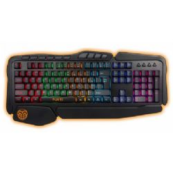 Gaming-tastatur iggual IGG315774 LED RGB Sort